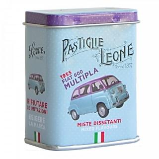 "Pastiglie Leone Lattina mignon ""Fiat 600 Multipla"" 1955 Miste Dissetanti"