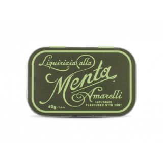 Amarelli Green Liquirizia alla Menta lattina 40gr