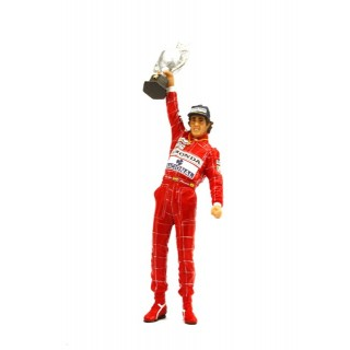Ayrton Senna Winner Brazilian Gp 1991 with trophy 1:18