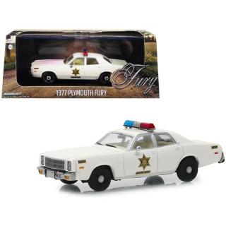 Plymouth Fury Hazard County Sheriff 1977 bianco 1:43