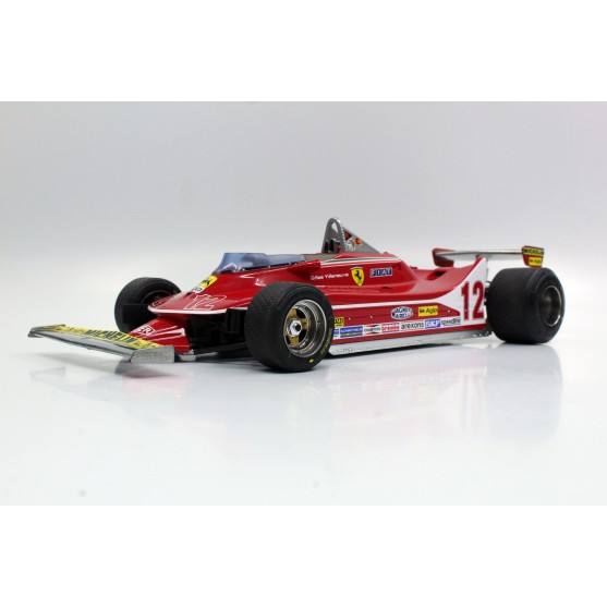 Ferrari 312 T4 Second Place French Gp 1979 Gilles Villeneuve 1:18