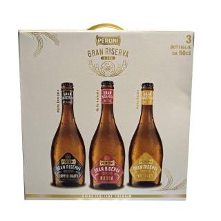 Birra Peroni Tris Regalo Gran Riserva 3 bottigle da 50cl