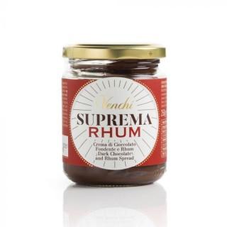 Venchi Crema Spalmabile al Cioccolato Suprema Fondente al Rhum 250g