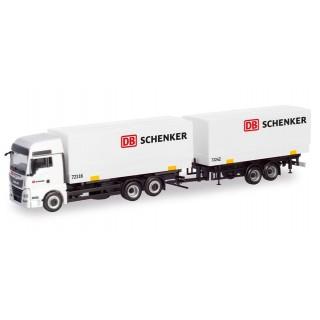 """MAN TGX XXL autotreno cassa mobile """"DB Schenker"""" 1:87"""
