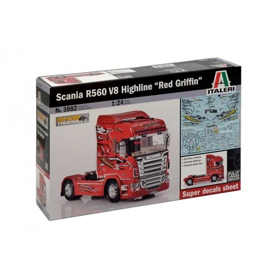 Scania R560 V8 Highline''Red Griffin'' Kit 1:24
