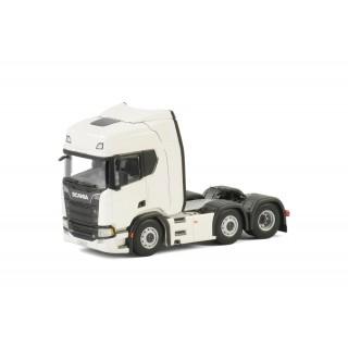 Scania R730 Higline I CR20H 6x2 Twin steer Trattore stradale Bianco 1:50