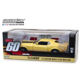 """Ford Mustang Mach 1 1971 dal Film """"Eleanor - Fuori in 60 secondi"""" giallo 1:18"""