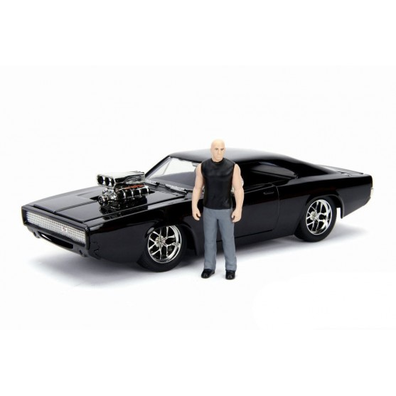 """Dodge Charger R/T Dom's 1970 Fast & Furious + Dominic """"Dom"""" Toretto 1:24"""