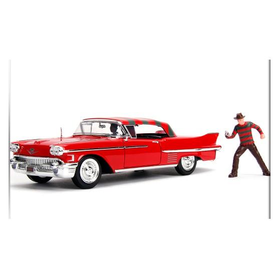 "Cadillac Fleetwood Series 60 1955 ""Pink Cadillac"" with Elvis Presley Figure 1:24"
