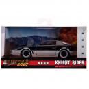 "Pontiac Firebird 1982 ""Knightrider KITT"" with Working Lights on the Front Hood black silver 1:32"