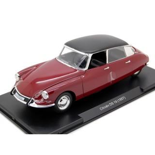 Citroen DS 19 1957 Rouge - Noir 1:24