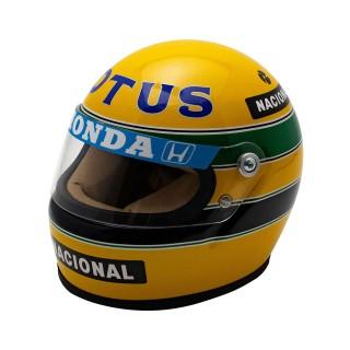 Ayrton Senna Bell Helmet Casco F1 1987 Team Lotus Honda 1:2