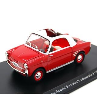 Autobianchi Bianchina Trasformabile rosso bianco 1:24