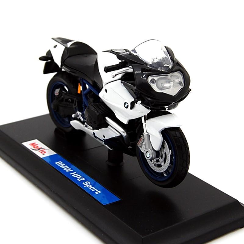 Bmw Hp2 Sport: BMW HP2 Sport Blu Bianco 1:18