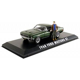 "Ford Mustang 1968 dal Film ""Bullit"" con figura Steve Mcqueen 1:43"