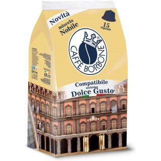 Caffè Borbone Capsule compatibili Dolce Gusto Nescafé Miscela Nobile 15 pz