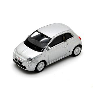 Fiat Nuova 500 2007 Silver 1:43