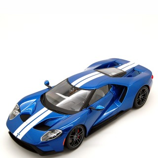 Ford GT 2017 Blu white stripes Exclusive 1:18