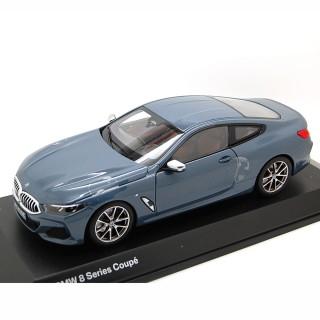 BMW 8 Series Coupé 2019 Barcellona blu metallico 1:18