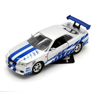 Nissan Skyline GT-R (R34) 2002 Fast & Furious Pull Back 1:32