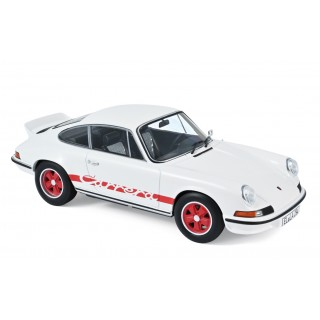 Porsche 911 RS 1973 White with red deco 1:18
