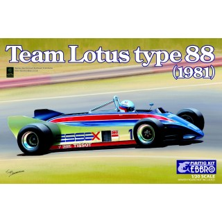 Lotus Ford Cosworth DFV Type 88 F1 1981 Kit 1:20