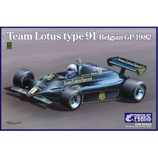 Lotus Ford Cosworth Type 91 1982 Belgian GP Kit 1:20