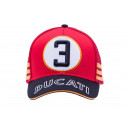 Ducati History 3 Desmo 750  Cappellino Baseball Rosso traforato