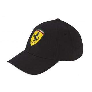 Ferrari Cappellino Baseball Logo Black