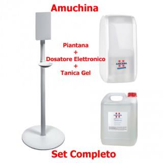 Amuchina - Set Piantana + Dosatore Elettronico + Amuchina Gel X-germ 5 lt