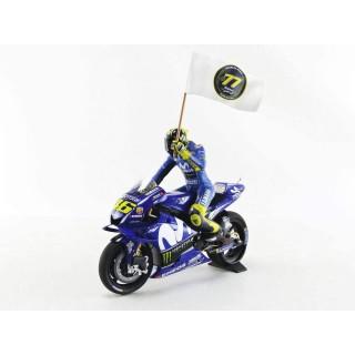Yamaha YZR-M1 Movistar 2018 Yamaha Moto GP 3 ° MotoGP Catalunya Valentino Rossi 1:12