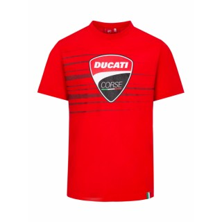 Ducati Corse Logo & Stripes Red T-shirt Man