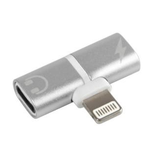 Splitter adattatore per collegare cavo ricarica e auricolari Apple I-phone