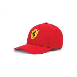 Ferrari Quilt Cappellino Baseball Trapuntato Red
