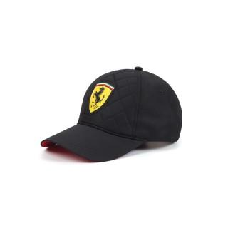 Ferrari Quilt Cappellino Baseball Trapuntato Nero