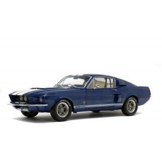 Shelby Mustang GT 500 1967 Nightmist Blue - Light Gray Stripes 1:18