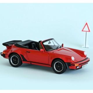 Porsche 911 Turbo Cabriolet 1987 Red 1:18