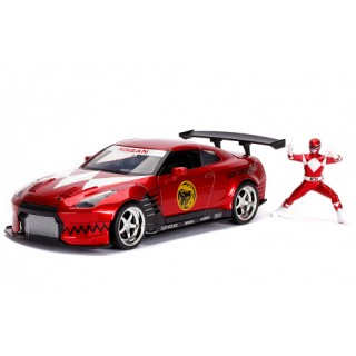 Nissan GT R (R35) 2009 Candy Red with Red Ranger 1:24