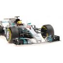 Mercedes Amg Petronas W08 F1 2017 Lewis Hamilton Winner Spanish Gp 1:18