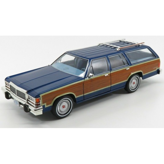 Ford LTD Country Squire 1979 blue 1:18