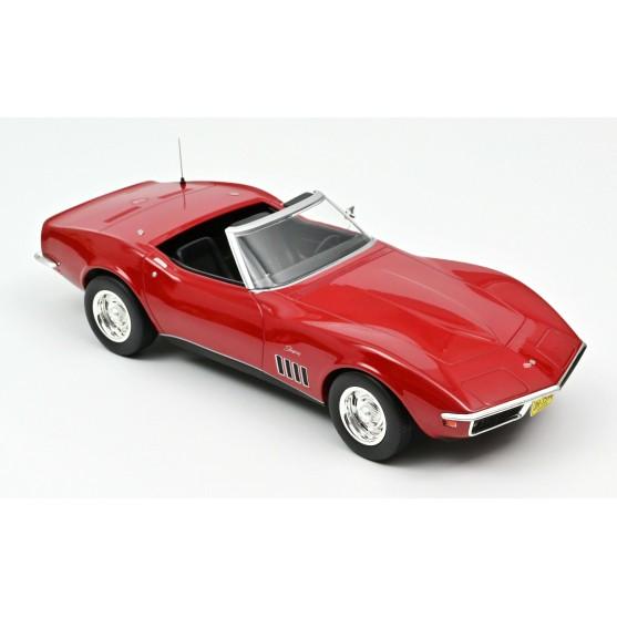 Chevrolet Corvette Convertible 1969 Red 1:18