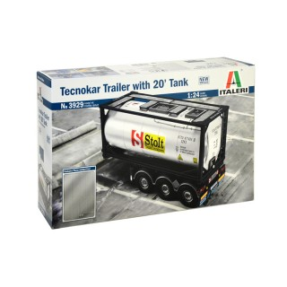 Semirimorchio Tecnokar  With 20 Tank Trailer Kit 1:24
