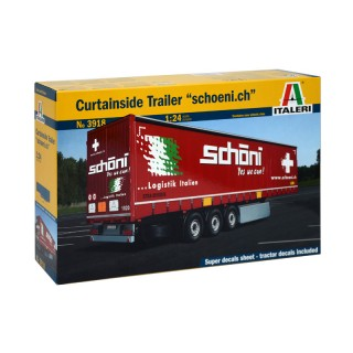 "Semirimorchio Curtainside Trailer ""Schoeni.ch"" Kit 1:24"