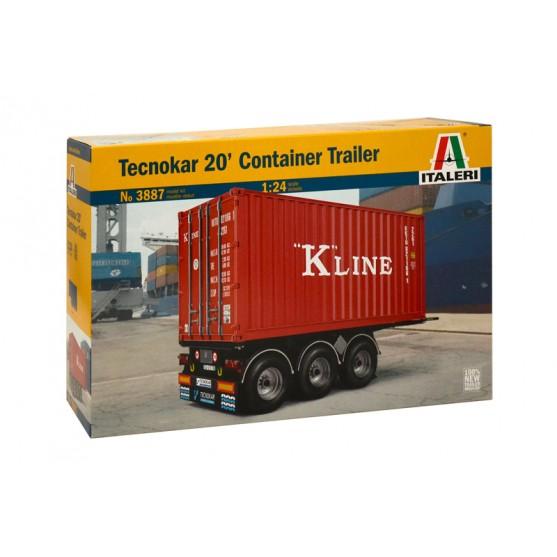 Semirimorchio Tecnokar 20 Container Trailer Kit 1:24