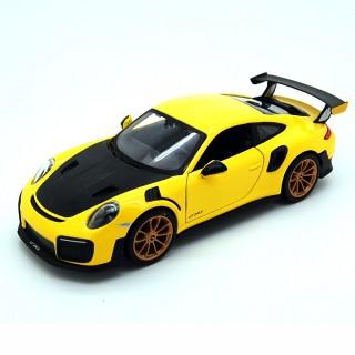 Porsche 911 GT2 RS 2018 Yellow Carbon Black 1:24