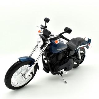 Harley Davidson Dyna Super Glide Sport 2004 Blu metallizzato 1:12