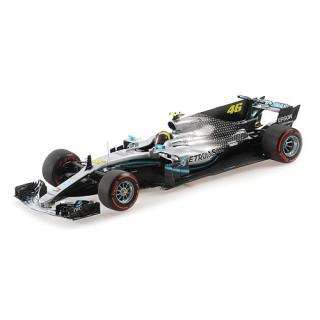 Mercedes AMG F1 W10 EQ Power+ F1 2019 Ride Swap 10 Dicembre 2019 Valencia Valentino Rossi 1:18
