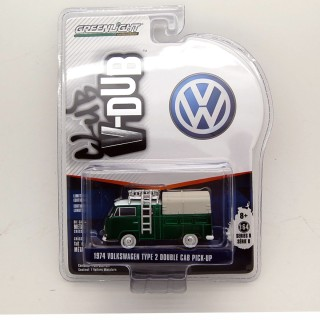 "Volkswagen T2 1974 Double Cab Pick Up ""Club Vee-Dub series 8"" 1:64 Green"