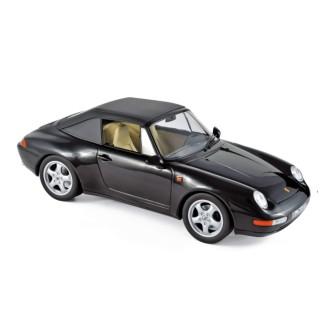Porsche 911 Carrera Cabriolet 1993 Black 1:18