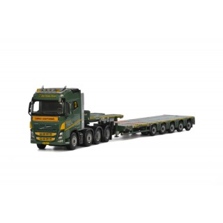 Volvo FH4 Globetrotter 8x4 Nooteboom MCO PX 5 As semi lowloader 1:50